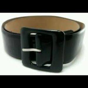 Ann Taylor Wide Black Patent Leather Belt